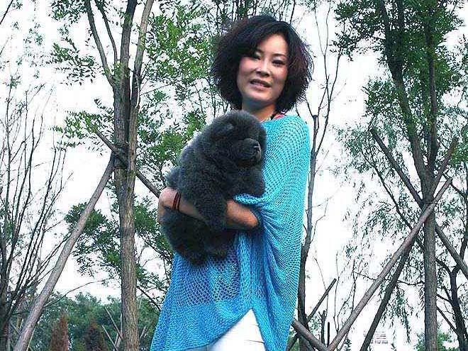1个半月松狮幼犬母蓝色松狮犬图片4